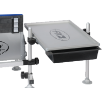 FCSA50A Table 540x350 mm with 2 pull-out trays with aluminum tablet