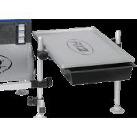 FCSA50A Tafel 540x350 mm met 2 uitschuifbare bakjes met aluminium tablet