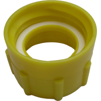 Adapter yellow DIN 61 with seal