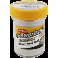 Glitter trout bait white