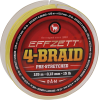 Effzett 4-braid geel 125m 0,15mm
